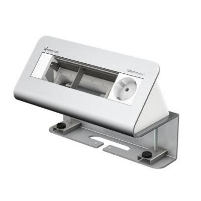 Kindermann 4-fold 1 x mains alu Inbouweenheid - Aluminium, Wit