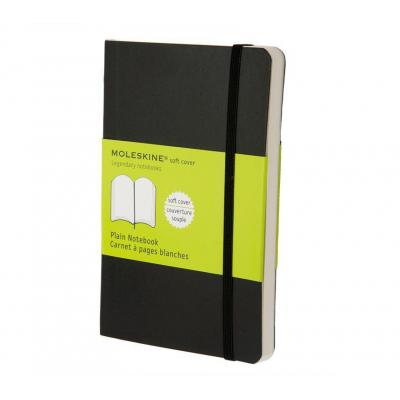 Moleskine schrijfblok: Plain Soft Notebook - Pocket - Zwart
