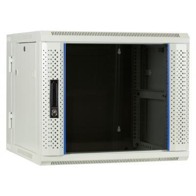 DS-IT 9U witte wandkast (kantelbaar) met glazen deur 600x600x500mm Rack