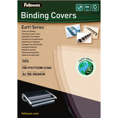 Fellowes binding cover: Earth Series polypropyleen dekbladen - transparant, A4