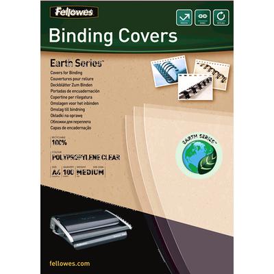 Fellowes Earth Series polypropyleen dekbladen - transparant, A4 Binding cover