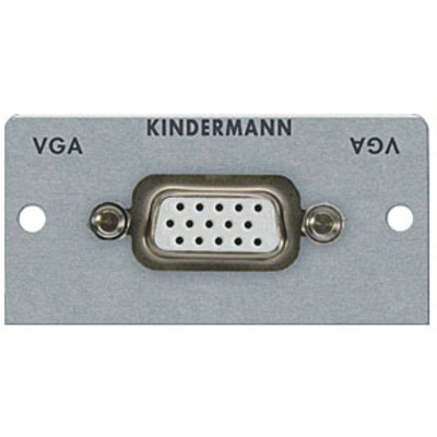 Kindermann Adapter plate VGA (HD 15) - Zilver