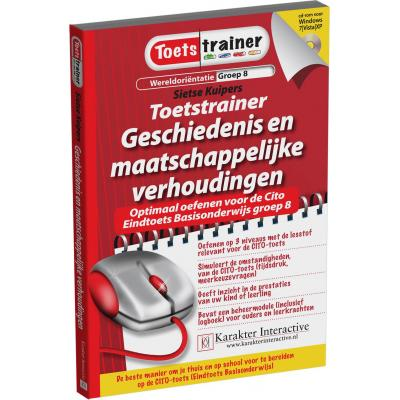 Karakter educatieve software: Toetstrainer Wereldorientatie, Geschiedenis en Maatschappelijke Verhoudingen (Groep 7 en .....