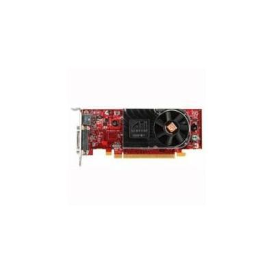 Dell videokaart: 256MB ATI Radeon HD 3450, Dual DVI/VGA - Zwart, Rood