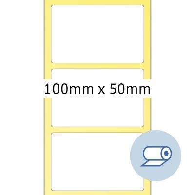 Herma etiket: Rol etiketten thermotransfer 100x50mm wit licht glanzend 2000 pcs.