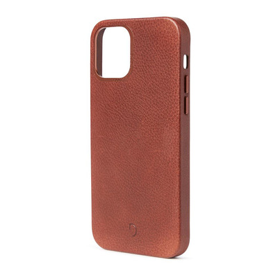Decoded Back Cover Brown - iPhone 12 Magsafe, ECCO leather/TPU Mobile phone case - Bruin