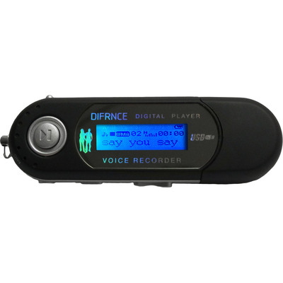 Difrnce MP851 - MP3 Speler - 4 GB - Zwart MP3/MP4-spelers