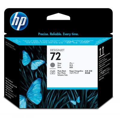 HP 72 grijs en zwart voor o.a DesignJet T795 printkop - Grijs, Foto zwart