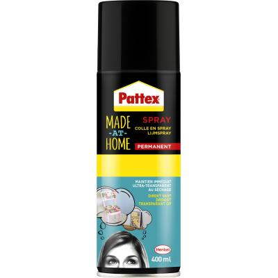 Pattex lijm: Made At Home lijmspray permanent 400ml - Veelkleurig