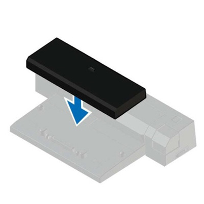 Dell laptop accessoire: Latitude E-Docking Spacer - Zwart