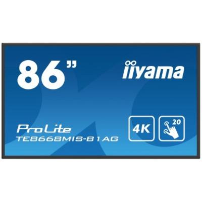 Iiyama ProLite TE8668MIS-B1AG Touchscreen monitor - Zwart