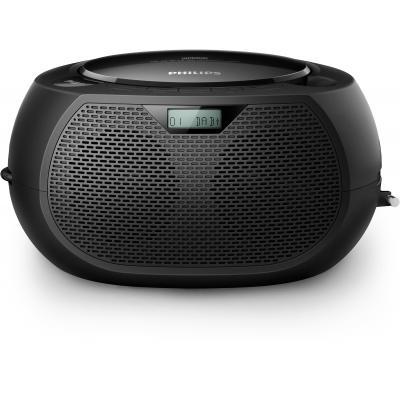 Philips CD-radio: CD Soundmachine, 2x 1 W RMS, Black - Zwart