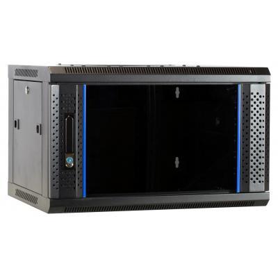 DS-IT 6U wandkast met glazen deur 600x450x368mm Rack