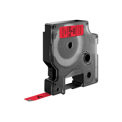 DYMO D1 Standard - Black on Red - 9mm Labelprinter tape