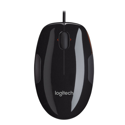 Logitech computermuis: M150 - Zwart, Oranje