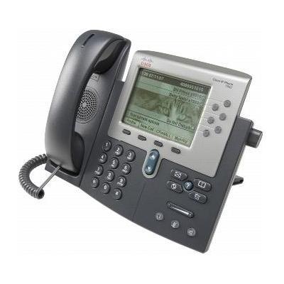 Cisco IP telefoon: 7962G - Zwart, Grijs