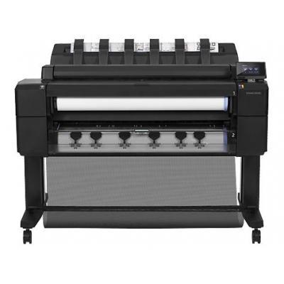 Hp grootformaat printer: Designjet T2500 36-inch eMFP - Zwart, Cyaan, Grijs, Magenta, Mat Zwart, Foto zwart, Geel