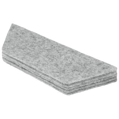 Nobo Whiteboard Eraser Refills, Pack of 10 Gum vulling - Grijs