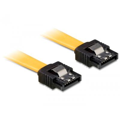 Delock ATA kabel: 0.3m SATA M/M - Geel