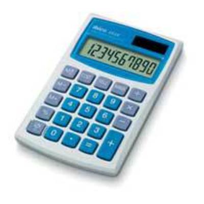 Ibico 082X Calculator - Blauw, Wit