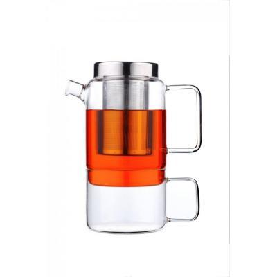 Bredemeijer teapot: Tea-for-one Salerno - Roestvrijstaal, Transparant