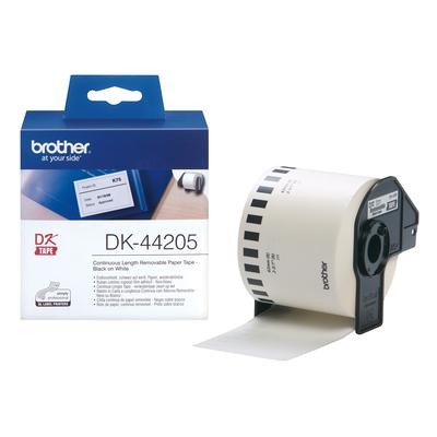 Brother DK-44605 Continue Lengte Tape (62mm) verwijderbaar, wit Labelprinter tape