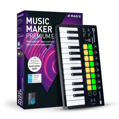 Magix audio software: Magix, Music Maker Performer Edition (Incl. Luxe Keyboard)