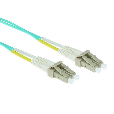 ACT 27 meter LSZH Multimode 50/125 OM3 glasvezel patchkabel duplex met LC connectoren Fiber optic kabel - Aqua-kleur