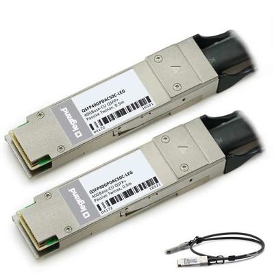 Legrand MSA- en TAA-conforme 40GBase-CU QSFP+ tot QSFP+ Direct Attach-kabel (Passieve Twinax, 0,5m) Fiber optic .....