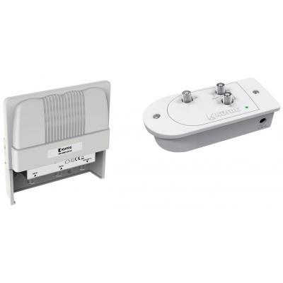 König signaalversterker TV: Mast mount amplifier kit, for UHF and VHF antennas - Wit