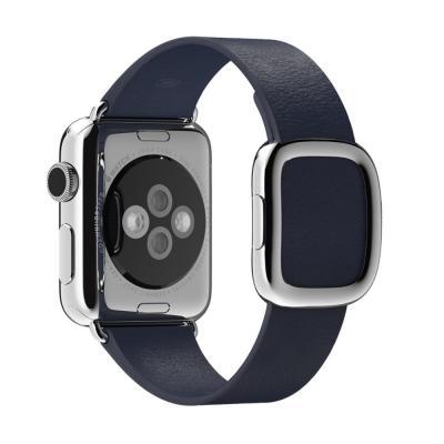 Apple horloge-band: 38mm Midnight Blue Modern Buckle, Large - Blauw