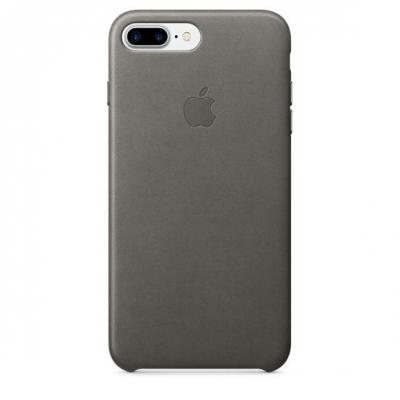 Apple mobile phone case: Leren hoesje voor iPhone 7 Plus - Stormgrijs