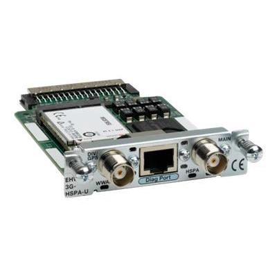 Cisco UMTS: 3.5G HSPA Wireless WAN EHWIC supporting GPRS/EDGE/UMTS/HSDPA/HSUPA, 5.76 Mbps, Refurbished