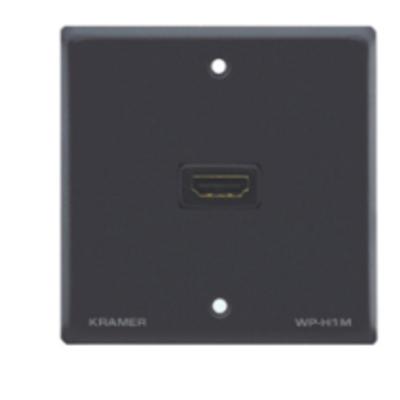 Kramer Electronics Passive Wall Plate - HDMI Inbouweenheid - Zwart