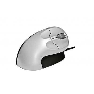 BakkerElkhuizen Grip Mouse computermuis - Zwart, Zilver