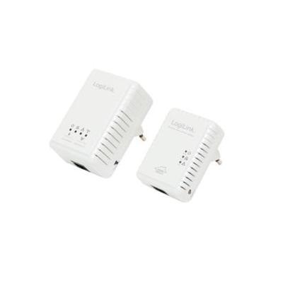 LogiLink Homeplug Starter Set, Powerline AV 500 Mbps & Wireless LAN 300 Mbps Powerline adapter - Wit