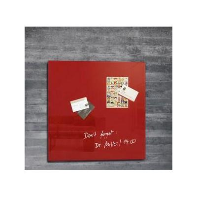 Sigel magnetisch bord: rood, 48 x 48 cm, 1 stuks
