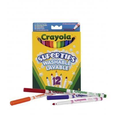 Crayola verf stift: 12 Viltstiften met superpunt - Veelkleurig