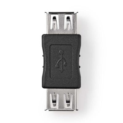 Nedis USB 2.0-Adapter, A Female - A Female, Zwart Kabel adapter