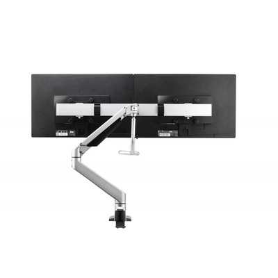 BakkerElkhuizen Premium Office Dual Beam Special Monitorarm - Zilver