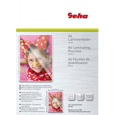 Geha laminatorhoes: A4 Laminating Pouches, 80 Mic, 100pcs. - Transparant