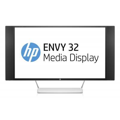 "HP monitor: ENVY 32 - 32"" Media Display met Bang & Olufsen Audio - Zwart, Zilver, Wit"