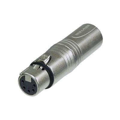 Neutrik XLR/XLR Kabel adapter - Zilver
