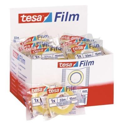 Tesa plakband: Film Standart 15mm x 33m - Transparant
