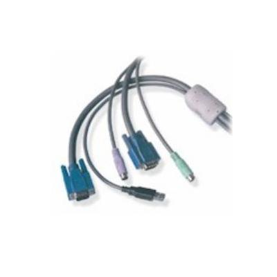 Adder KVM kabel: KVM Interface Cable USB+VGA - PS/2+VGA, 2m