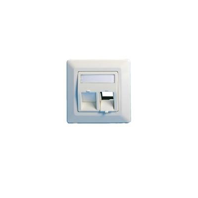 Lanview Wall plate, angled, 2 x keystone EURO, white - Wit