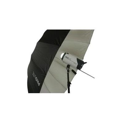 Priolite fotostudioreflector: Giant Umbrella with front diffuser Diameter 185cm - Zilver