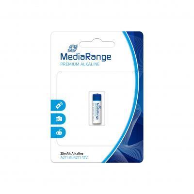 Mediarange batterij: Premium Alkaline Battery, A27|6LR27|12V - Blauw, Wit