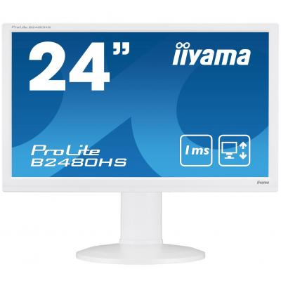 "Iiyama monitor: ProLite B2480HS-W2 23,6"" Full HD TN - Business - Wit"