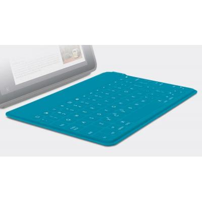 Logitech mobile device keyboard: Keys-To-Go - Blauw, AZERTY